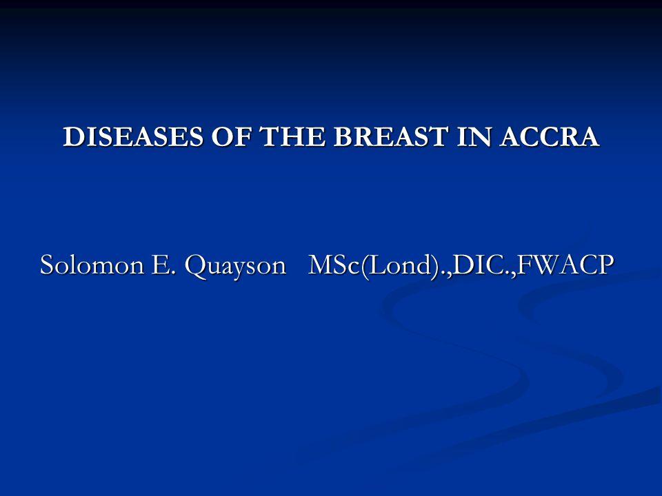 DISCUSSION & CONCLUSION The commonest breast lesion is fibroadenoma constitutes The commonest breast lesion is fibroadenoma constitutes 56.6% of all benign lesions.