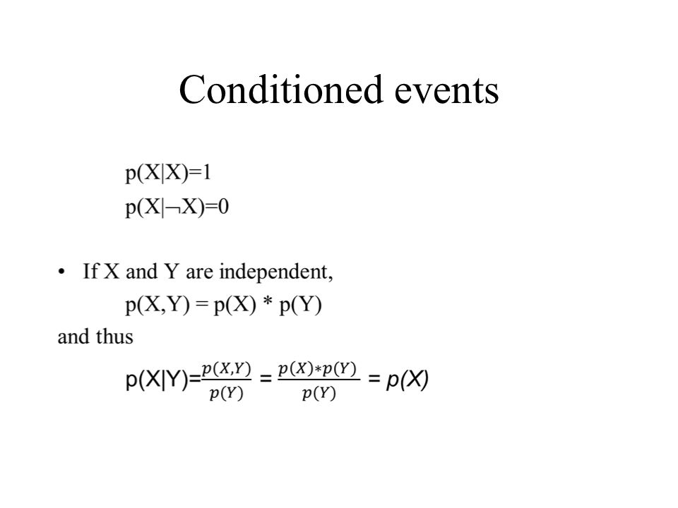 Conditioned events