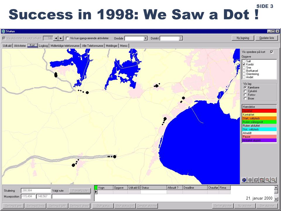 SIDE 3 Success in 1998: We Saw a Dot ! 21. januar 2000