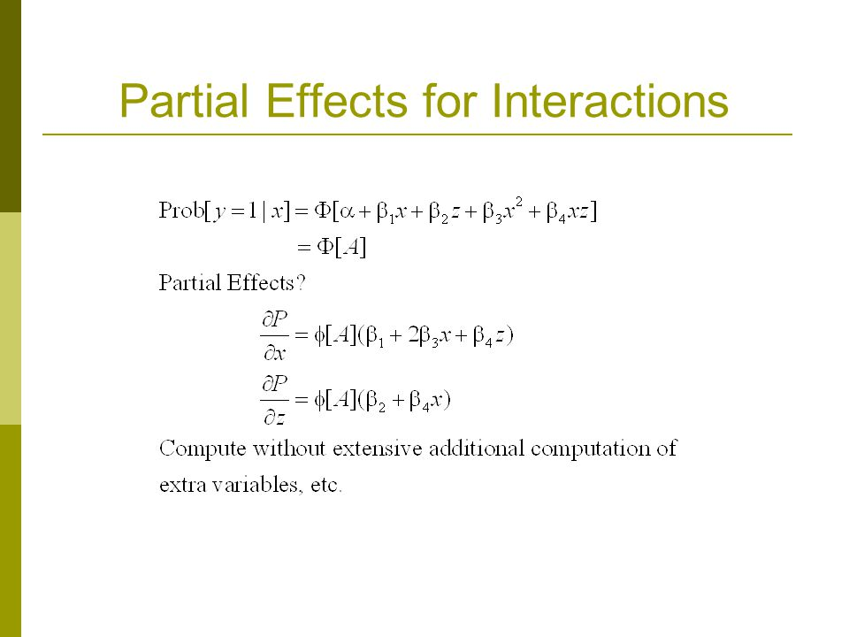 Partial Effects for Interactions