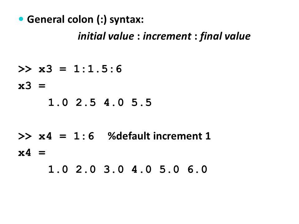 2) >> A=[30 5.5; 2 -7]; B=[-3 6; 8 12]; >> C = A*B C = -46 246 -62 -72 >> max(C) %returns max.