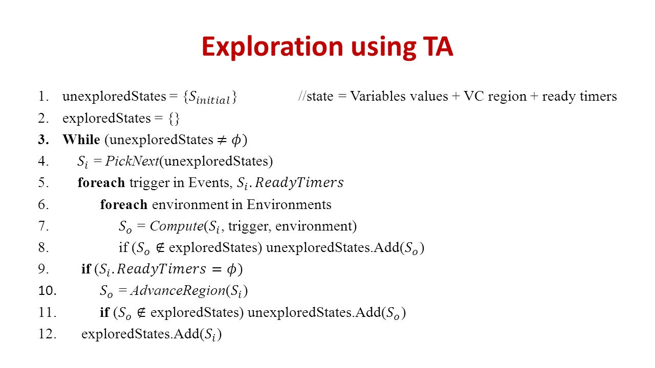 Exploration using TA