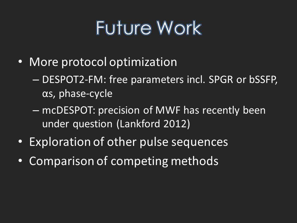 More protocol optimization – DESPOT2-FM: free parameters incl.