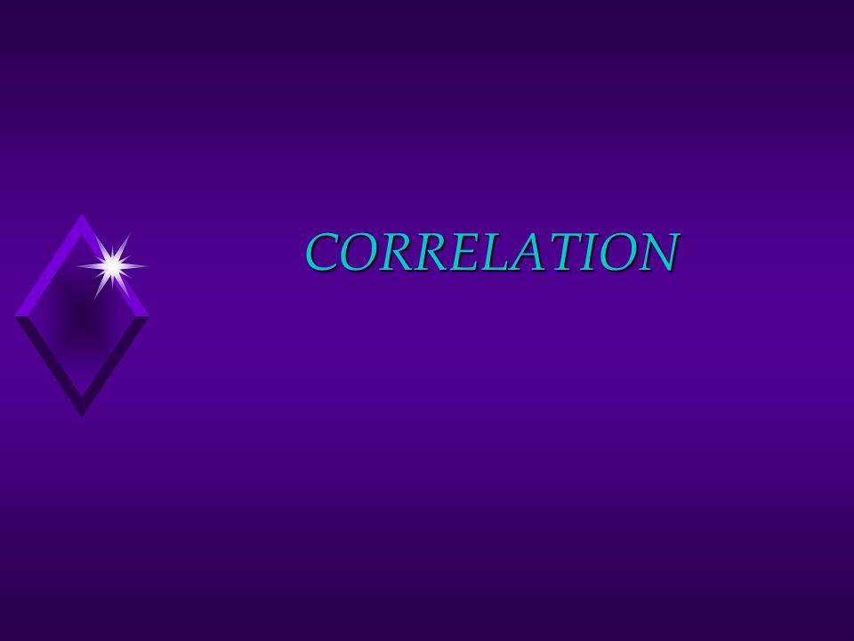 Assumptions u Appropriate types of data u Independent observations u Normal distributions u Linear relationship