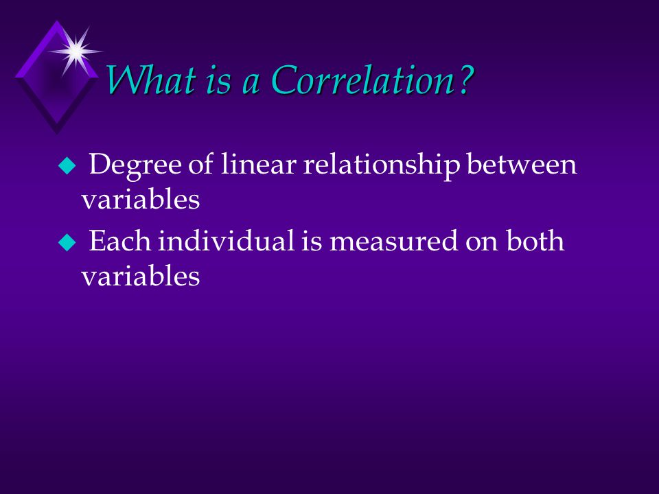 What is a Correlation.