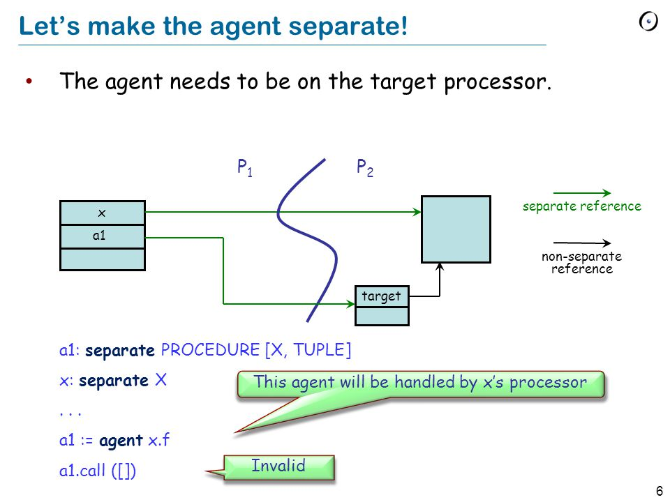 6 Let's make the agent separate.The agent needs to be on the target processor.