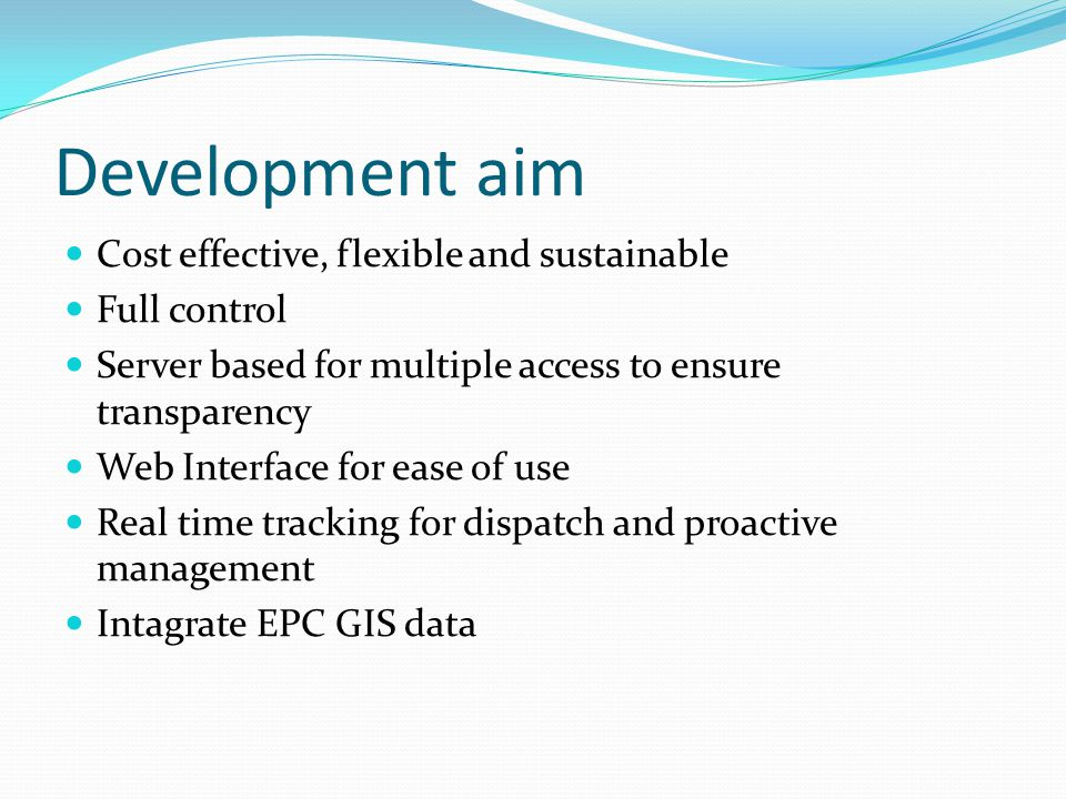 Conclusion We have achieve all system development aims.
