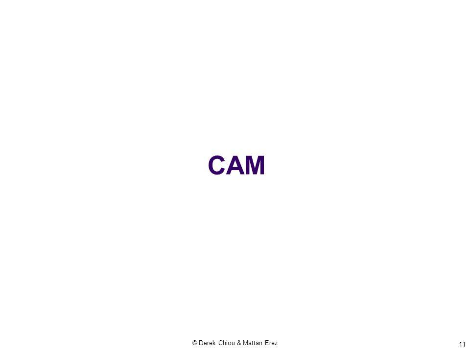 CAM © Derek Chiou & Mattan Erez 11