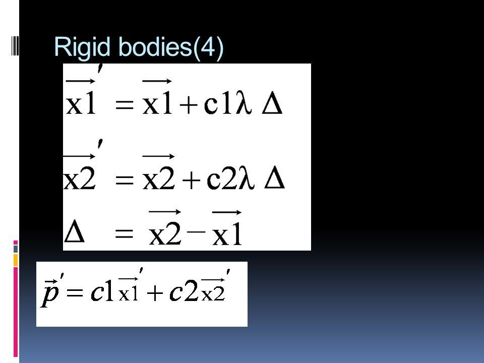 Rigid bodies(4)