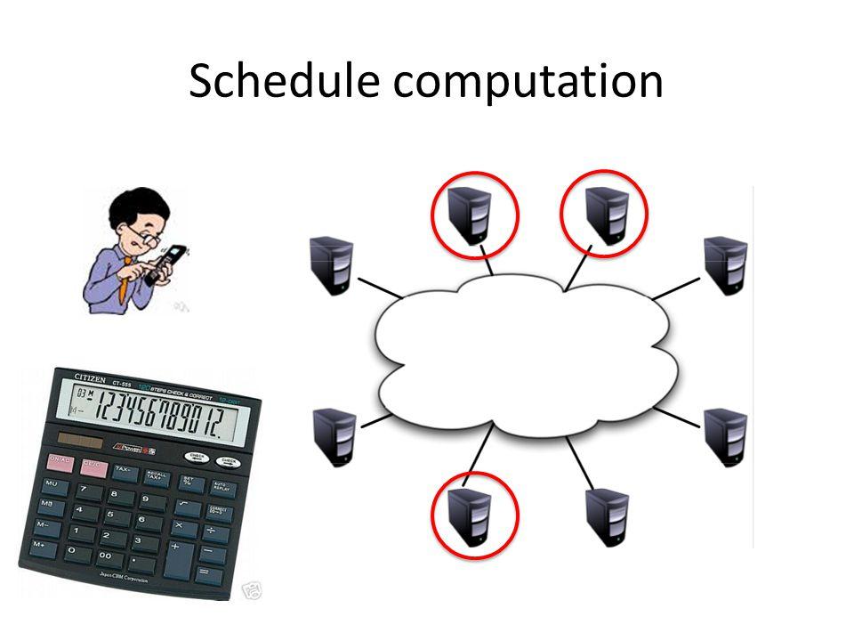 Schedule computation