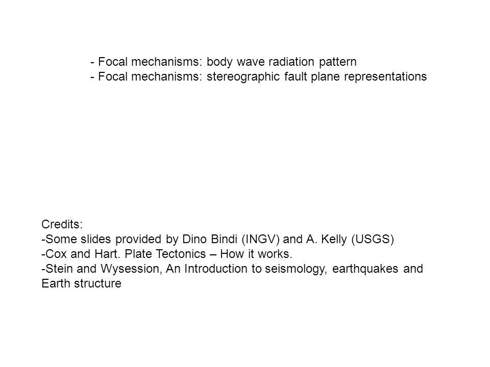 Credits: -Some slides provided by Dino Bindi (INGV) and A.