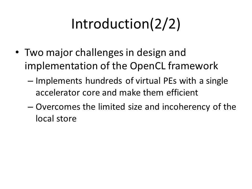 OpenCL platform(1/2) The OpenCL platform model