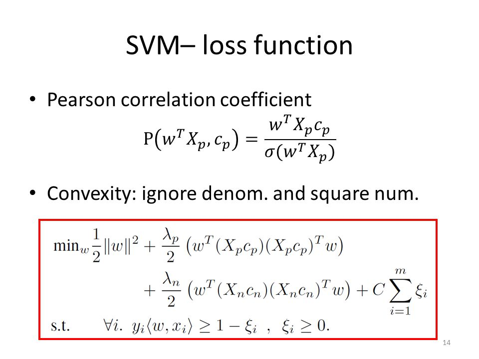 SVM– loss function 14