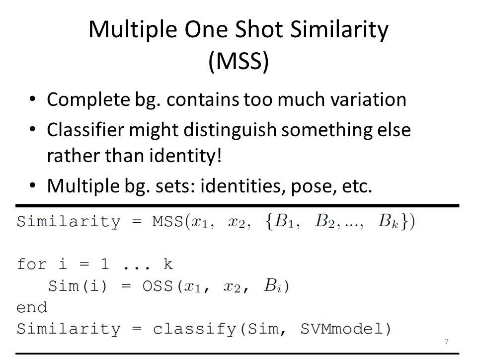 One-Side SVM-minus Similarity 18