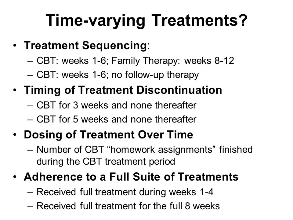 Time-varying Treatments.