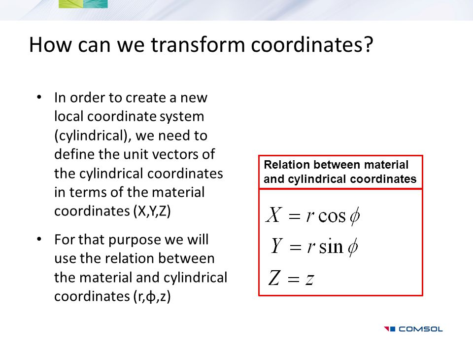 How can we transform coordinates.