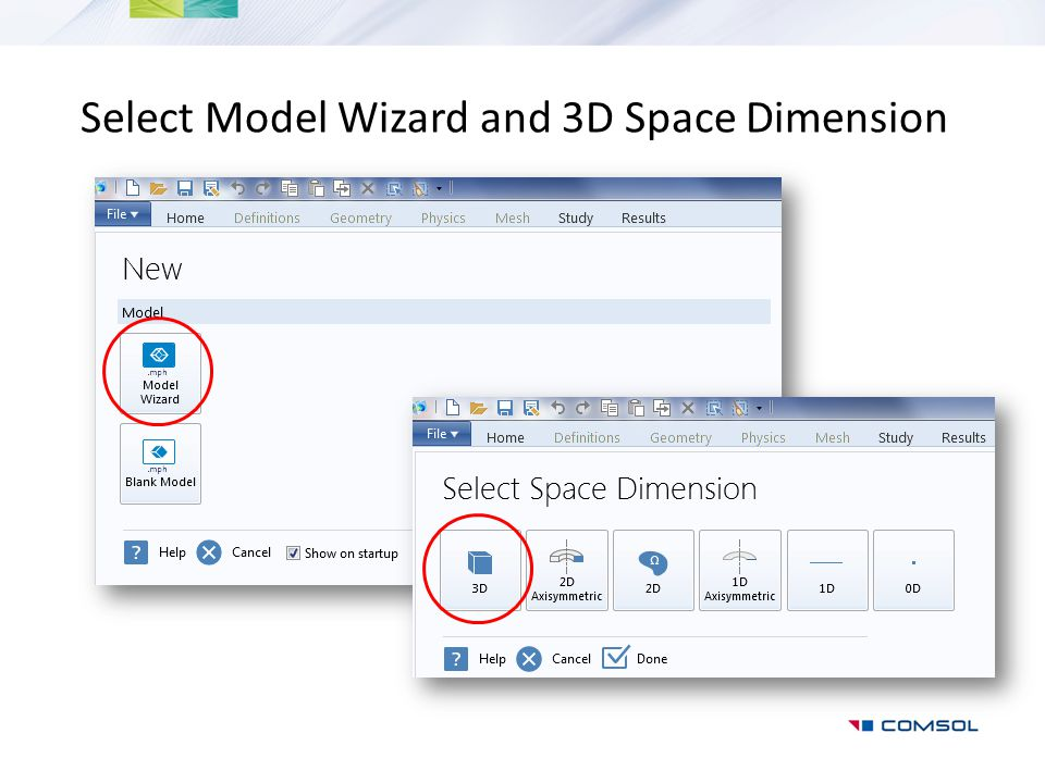Select Model Wizard and 3D Space Dimension