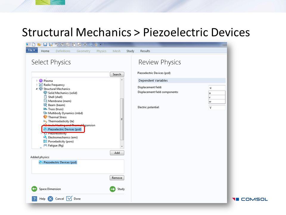 Structural Mechanics > Piezoelectric Devices