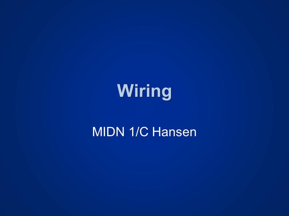 Wiring MIDN 1/C Hansen
