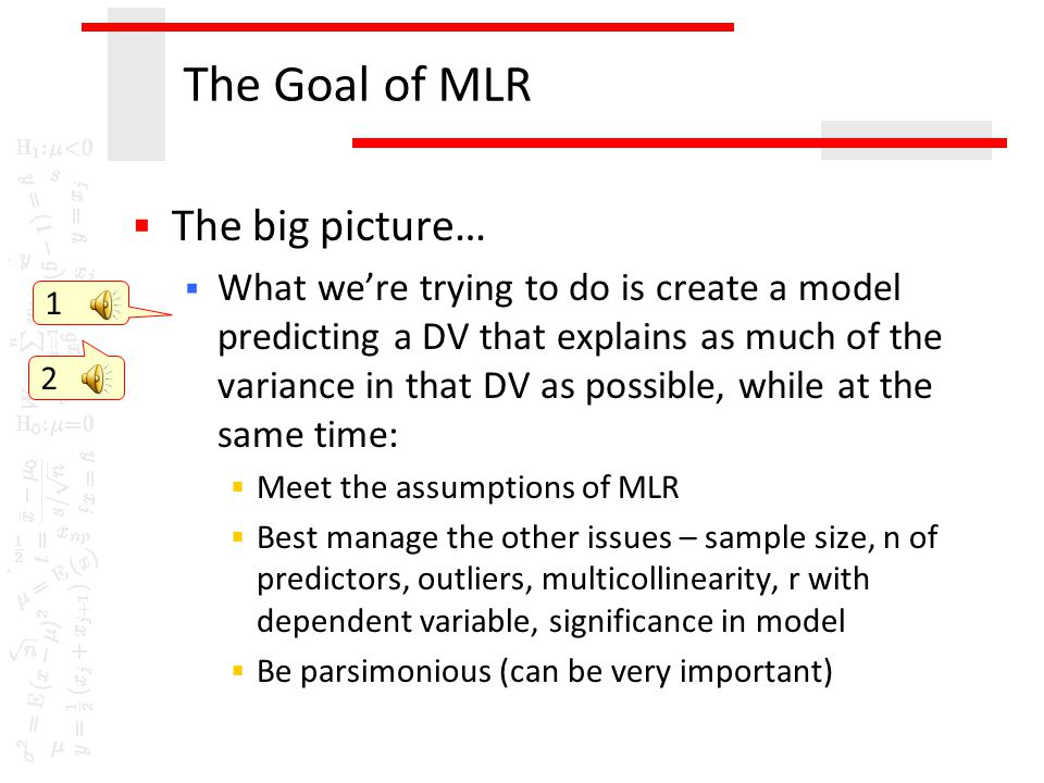 What do we do about the big M?  Many opinions  E.g. O'Brien (2007) A Caution Regarding Rules of Thumb for Variance Inflation Factors. Quality & Quan