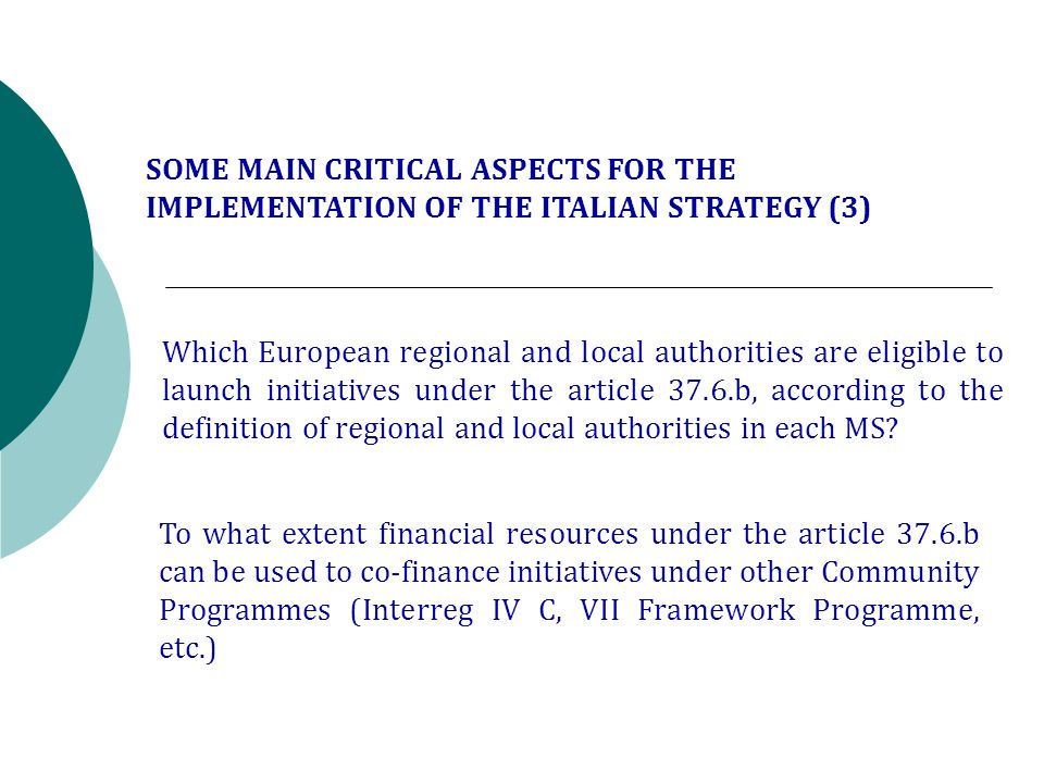 Which European regional and local authorities are eligible to launch initiatives under the article 37.6.b, according to the definition of regional and local authorities in each MS.