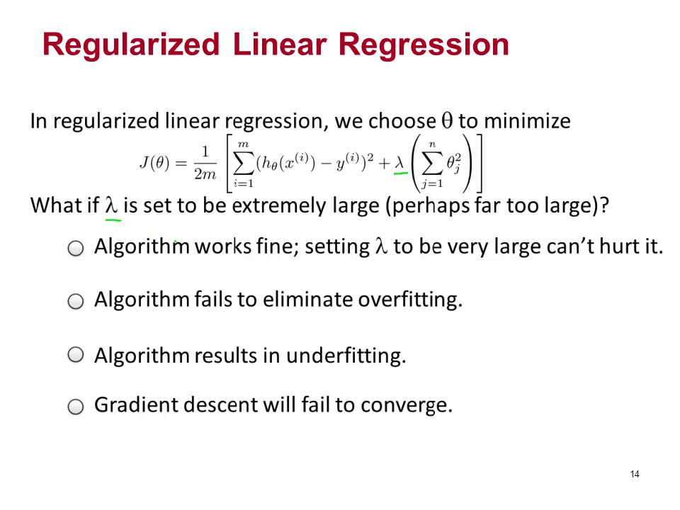 Regularized Linear Regression 14