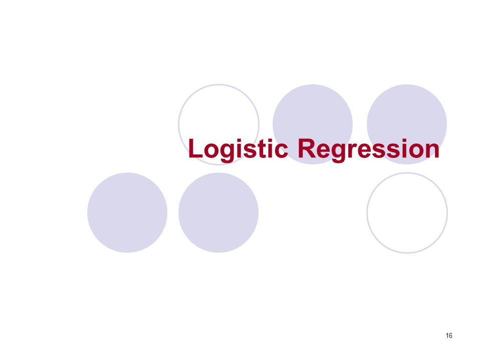 16 Logistic Regression