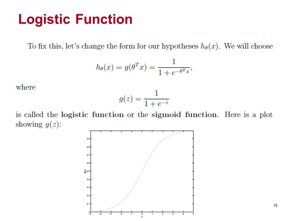 Logistic Function 18
