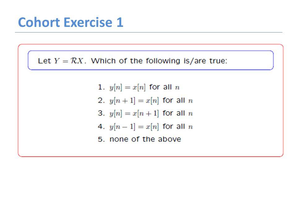 Cohort Exercise 1