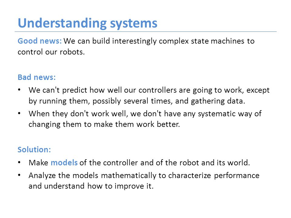 LTI systems as state machines