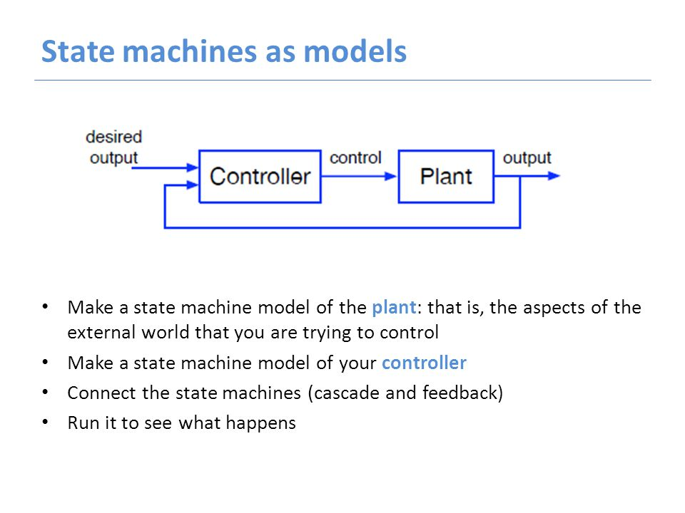 Computer programs are unpredictable Could we figure out what will happen without running the simulation, just by looking at the definitions of the controller and the plant.