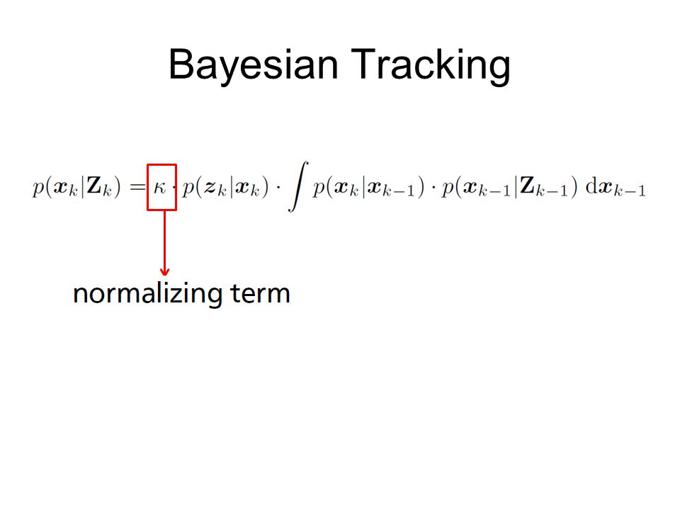 Bayesian Tracking