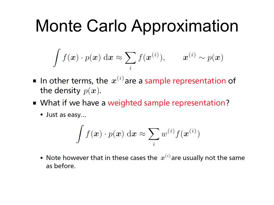 Monte Carlo Approximation