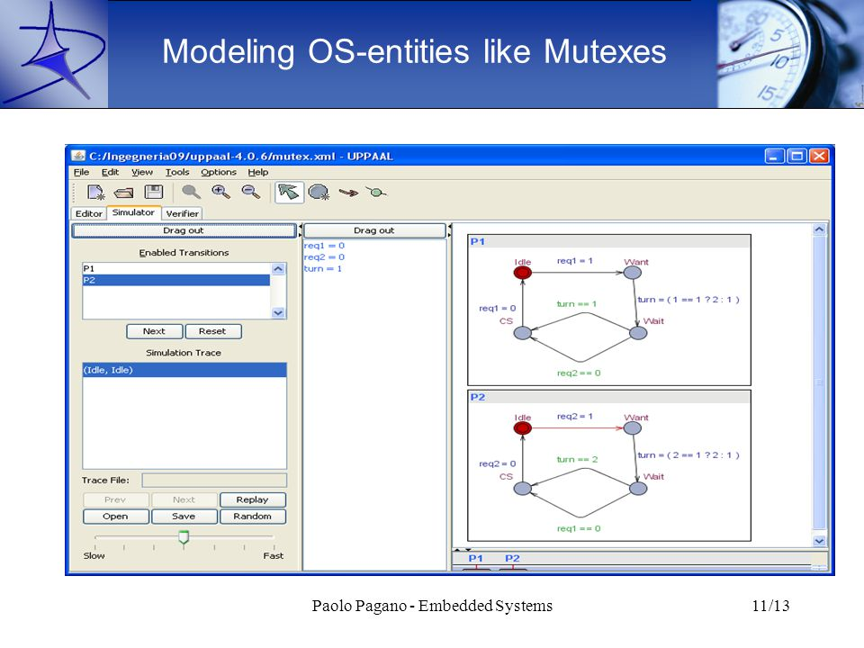 Paolo Pagano - Embedded Systems11/13 Modeling OS-entities like Mutexes