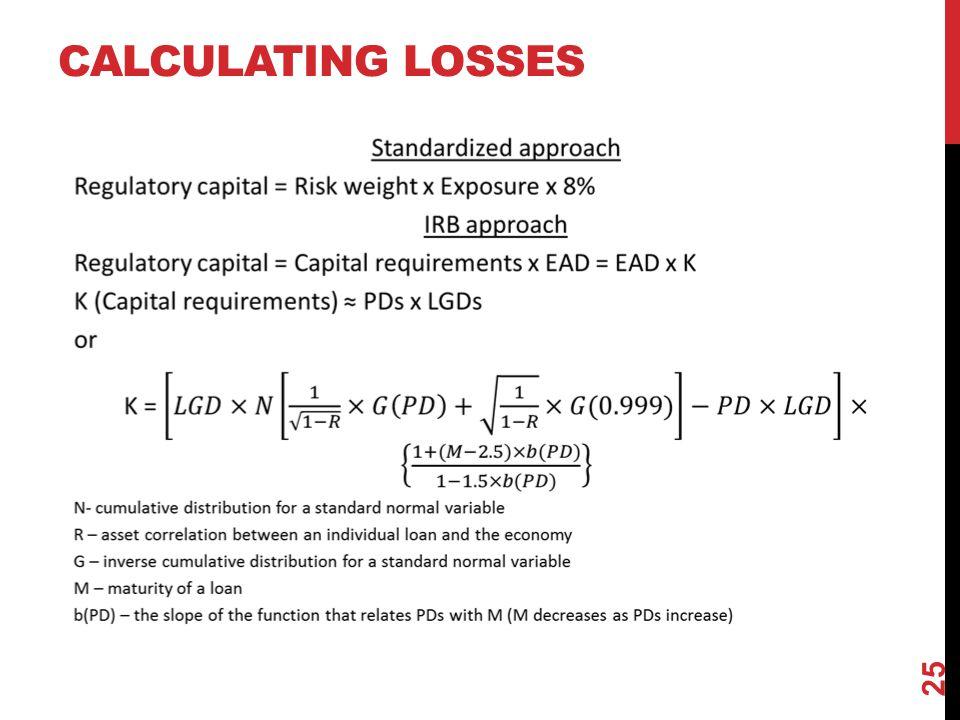 CALCULATING LOSSES 25