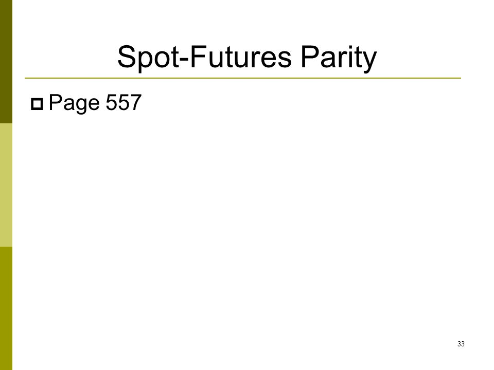 Spot-Futures Parity  Page 557 33