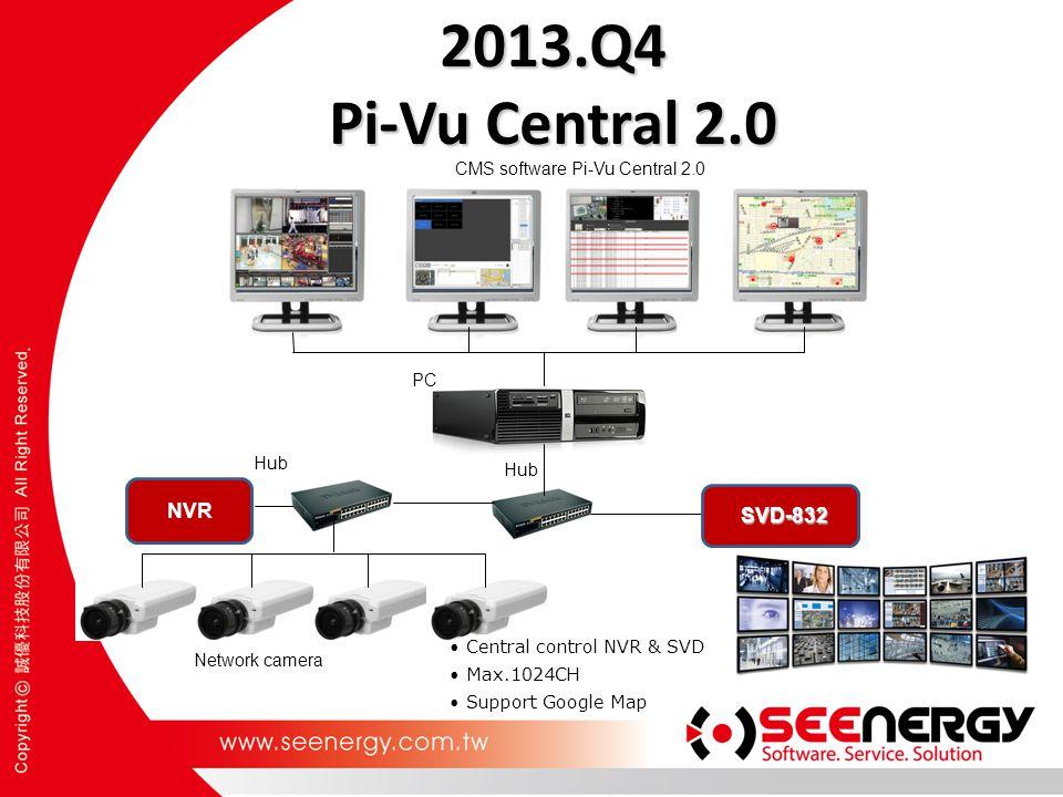2013.Q4 Pi-Vu Central 2.0 Hub Network camera PC Hub NVR CMS software Pi-Vu Central 2.0 Central control NVR & SVD Max.1024CH Support Google Map SVD-832