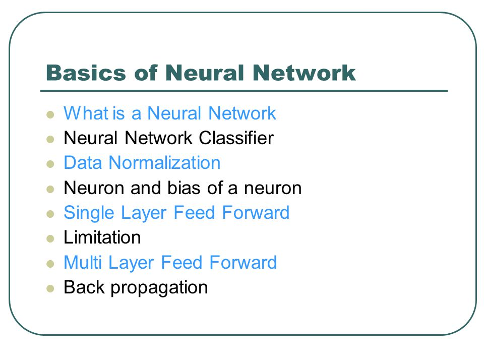 One Neuron as a Network The neuron receives the weighted sum as input and calculates the output as a function of input as follows : y = f(x), where f(x) is defined as f(x) = 0 { when x< 0.5 } f(x) = 1 { when x >= 0.5 } For our example, x ( weighted sum ) is 0.55, so y = 1, That means corresponding input attribute values are classified in class 1.