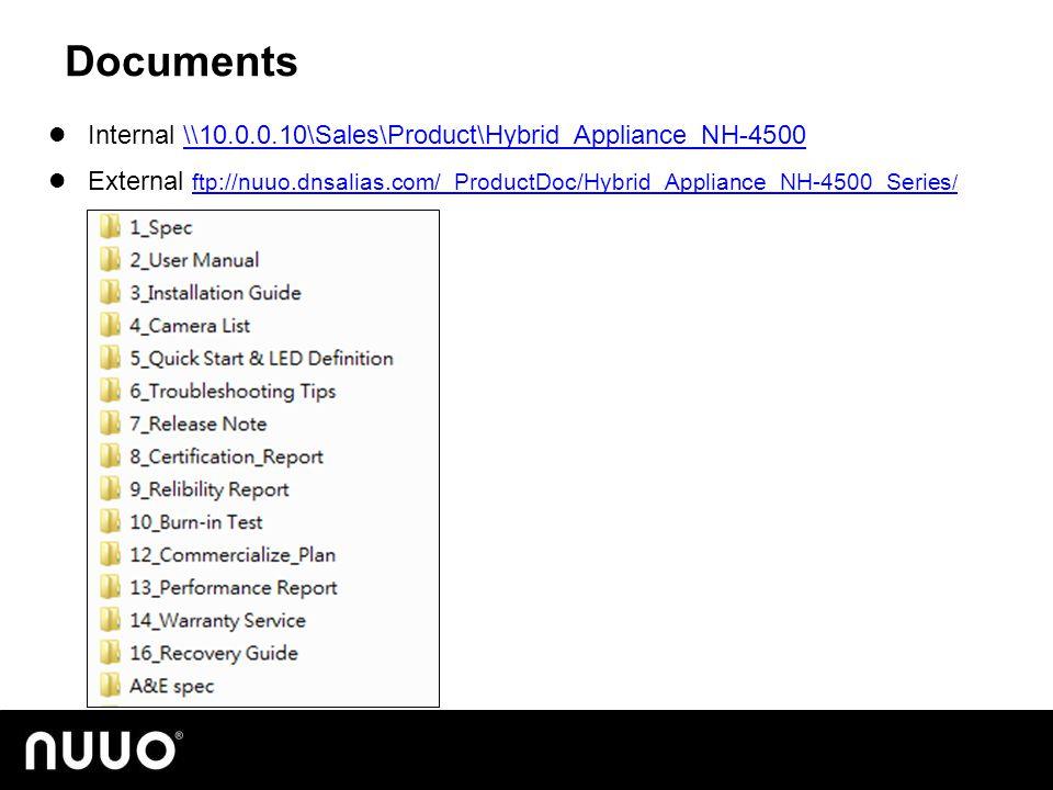 Documents Internal \\10.0.0.10\Sales\Product\Hybrid_Appliance_NH-4500\\10.0.0.10\Sales\Product\Hybrid_Appliance_NH-4500 External ftp://nuuo.dnsalias.com/_ProductDoc/Hybrid_Appliance_NH-4500_Series / ftp://nuuo.dnsalias.com/_ProductDoc/Hybrid_Appliance_NH-4500_Series /