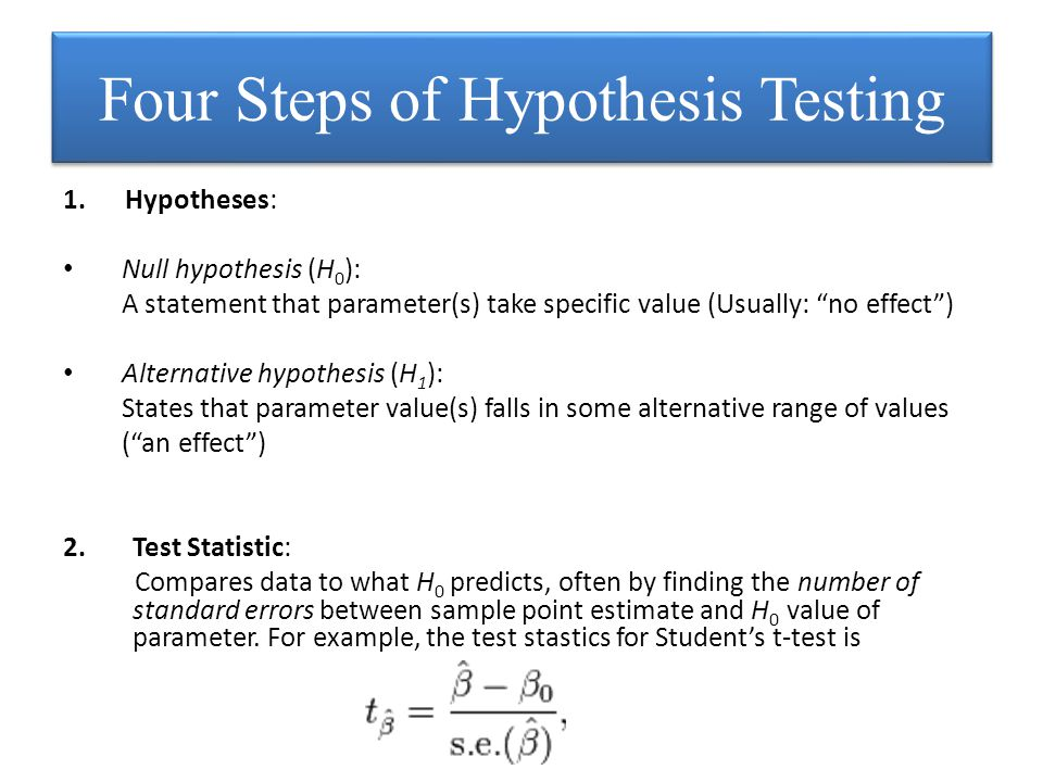 3.P-value (P): A probability measure of evidence about H 0.
