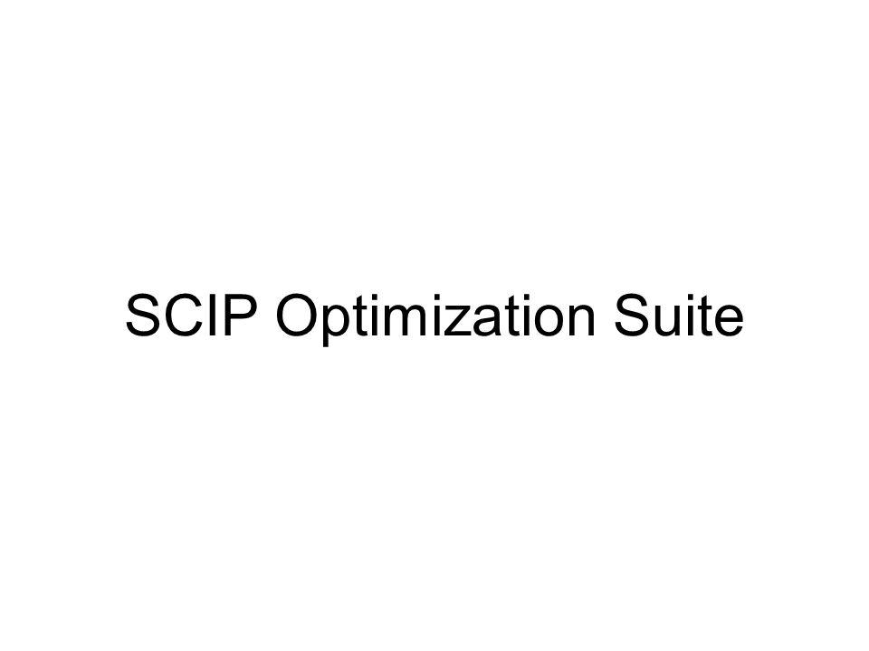 SCIP Optimization Suite