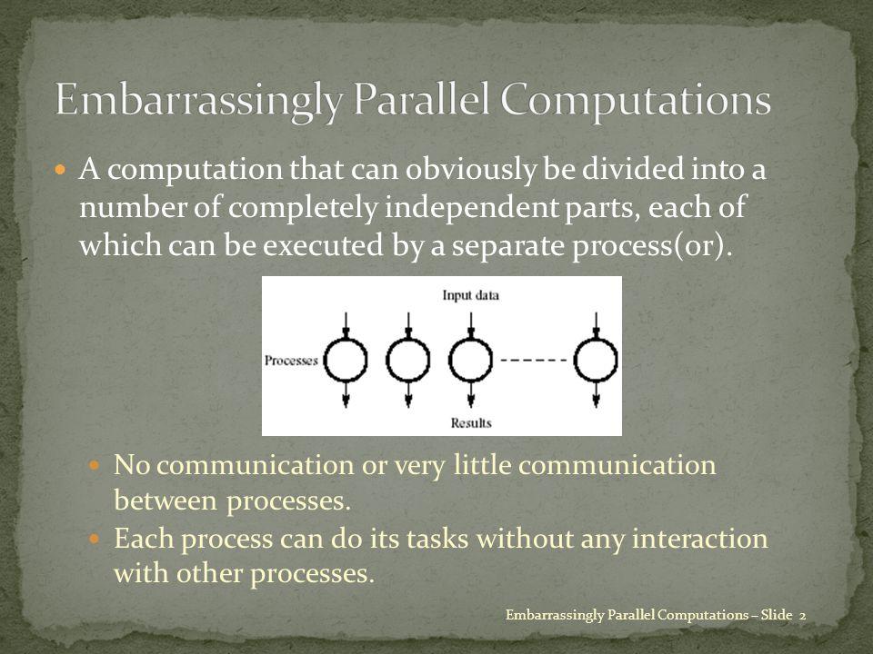 Embarrassingly Parallel Computations – Slide 13