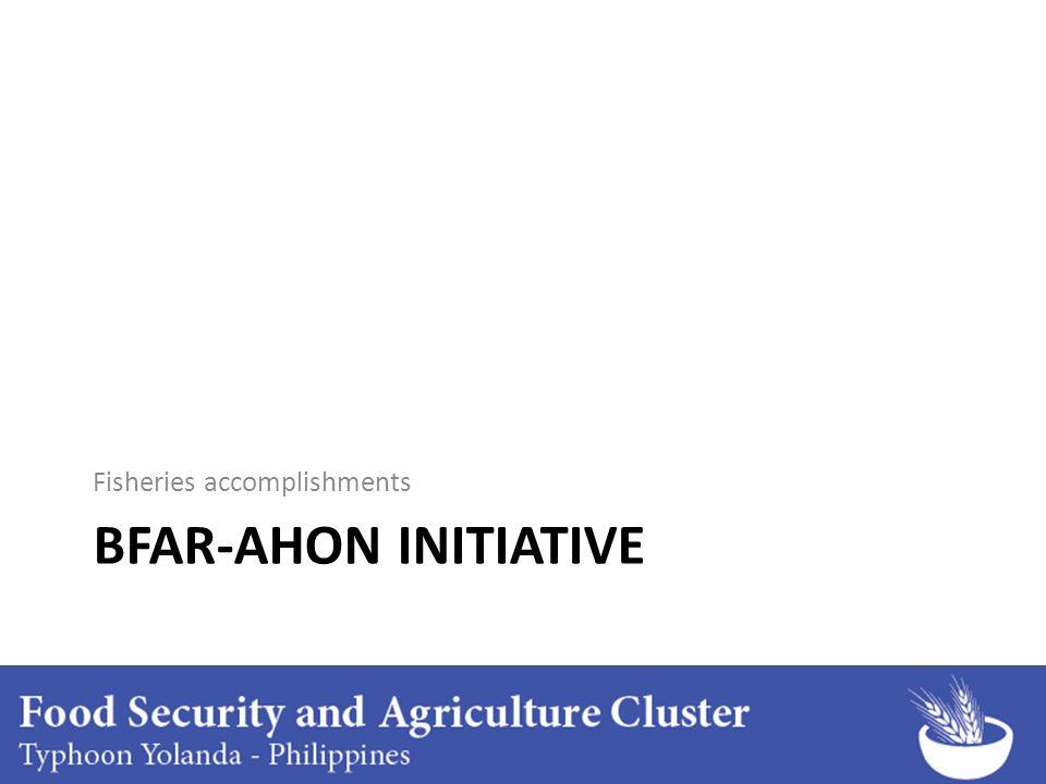 BFAR-AHON INITIATIVE Fisheries accomplishments