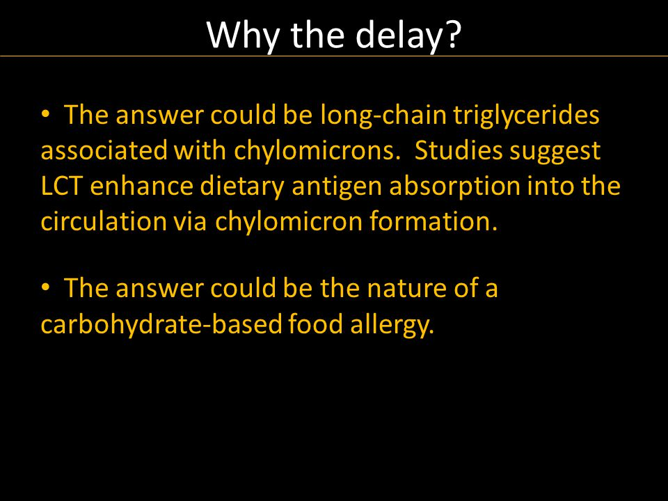 The answer could be long-chain triglycerides associated with chylomicrons.