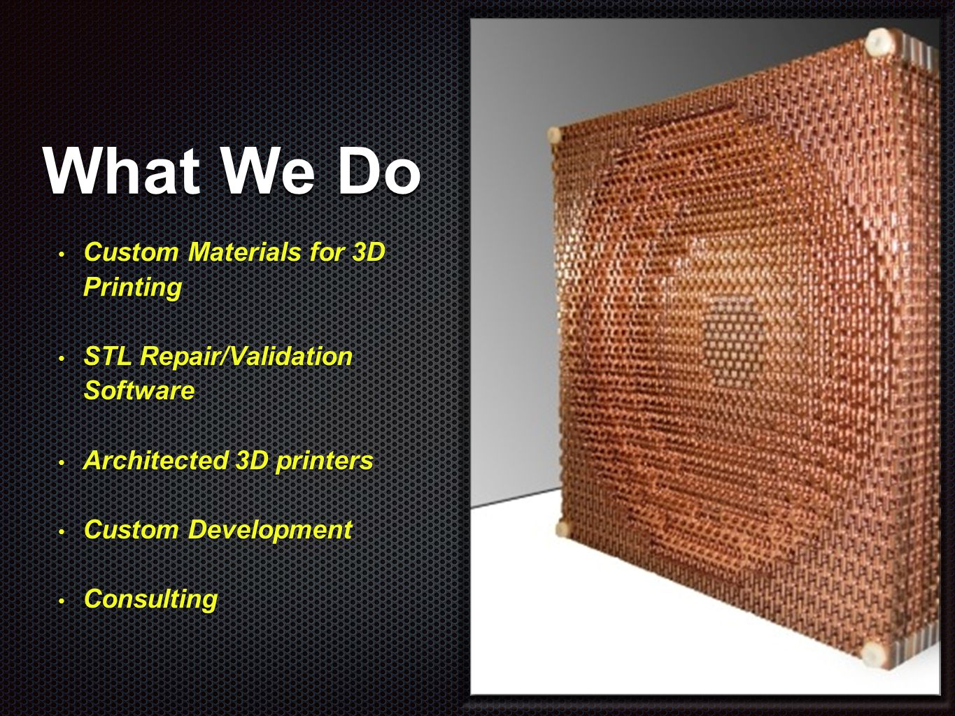 Commercial 3D Printing State of the Industry