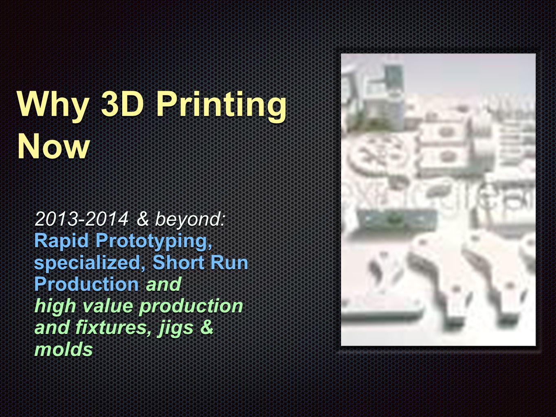 Economics of Desktop 3D Printing Rule of Thumb Number Three Finish Low Load Medium High Load Hybrid Load High Gloss YesUnlikelyNoUnlikely SmoothYesMaybeUnlikelyMaybe MatteYesLikleyMaybeMaybe Not Important YesYesYesYes