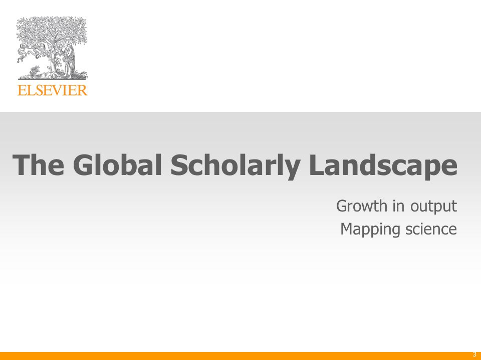 The Global Scholarly Landscape Growth in output Mapping science 3