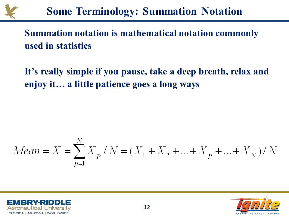 Sequences and Series: Terminology and Notation