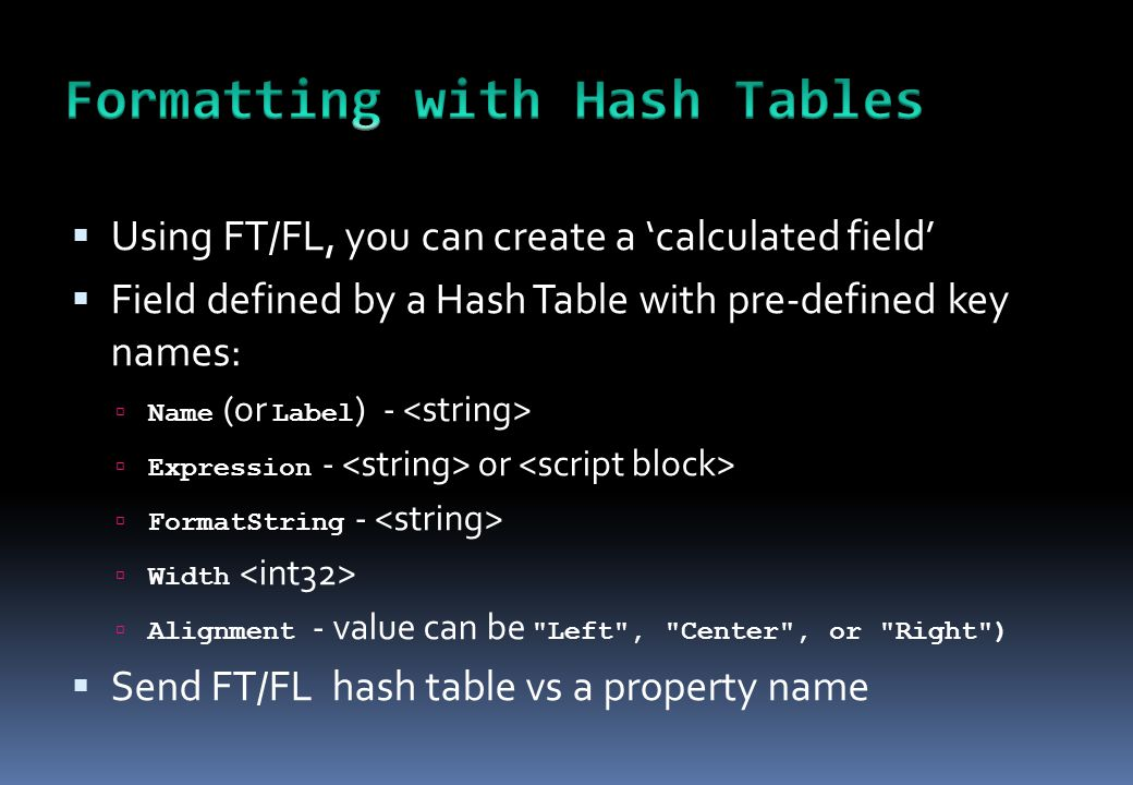  Using FT/FL, you can create a 'calculated field'  Field defined by a Hash Table with pre-defined key names:  Name (or Label ) -  Expression - or