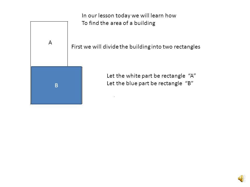 In our lesson today we will learn how to find the area of a building